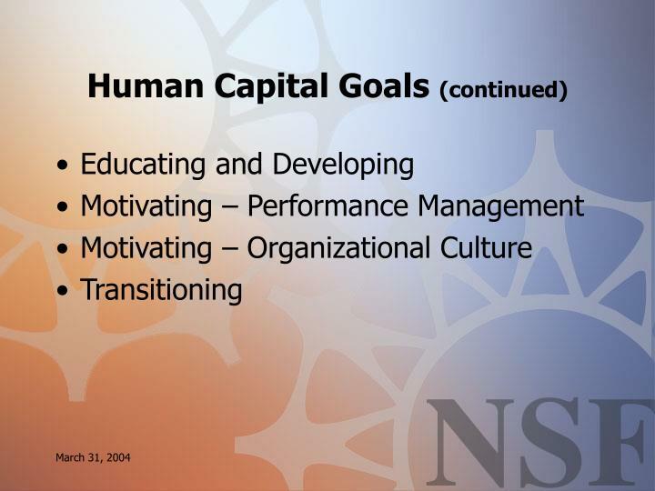 Human Capital Goals