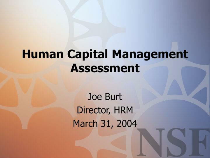 Human capital management assessment