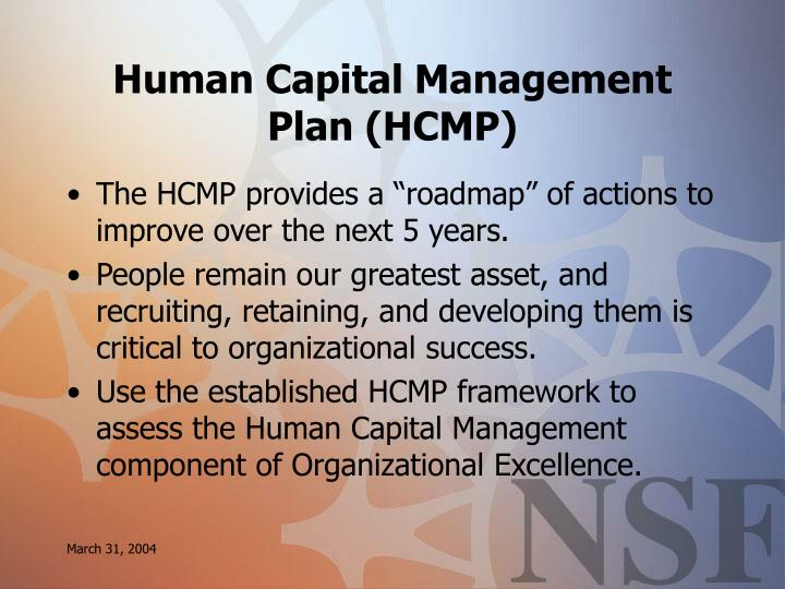 Human Capital Management Plan (HCMP)