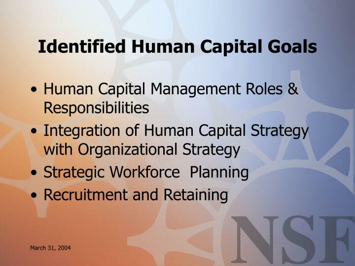 Identified Human Capital Goals