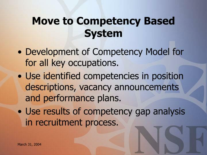 Move to Competency Based System