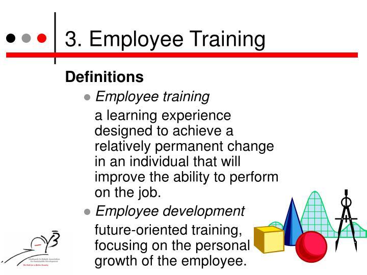 3. Employee Training