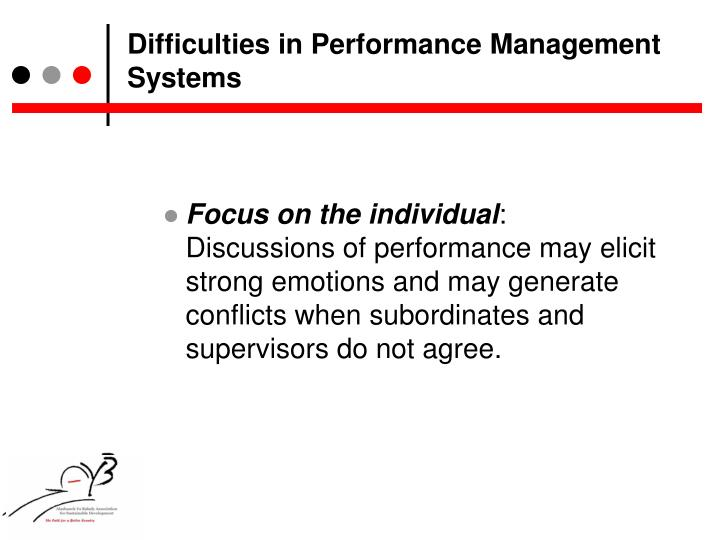Difficulties in Performance Management Systems