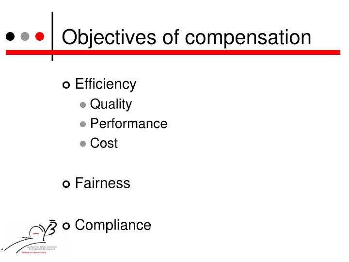 Objectives of compensation