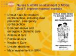 nurses hcws on attainment of mdgs goal 5 improve maternal mortality2