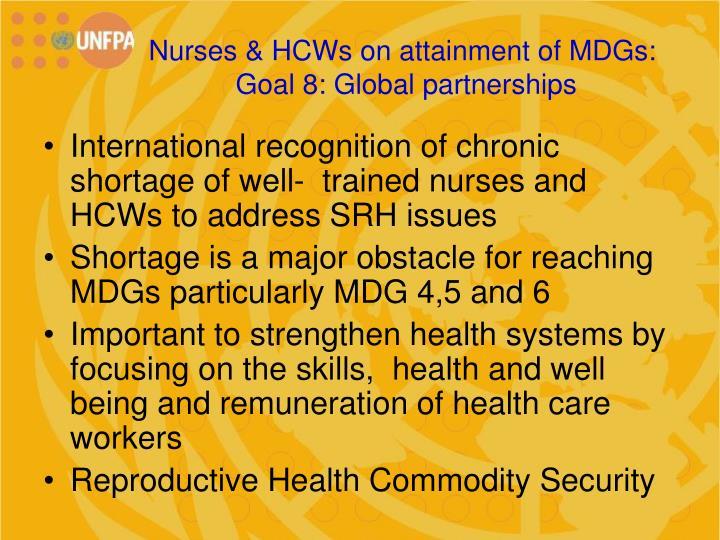 Nurses & HCWs on attainment of MDGs: