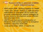 nurses hcws on attainment of mdgs goal 8 global partnerships1