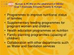 nurses hcws on the attainment of mdgs goal 1 eradicate extreme poverty hunger1