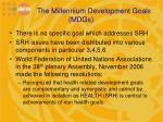 the millennium development goals mdgs1