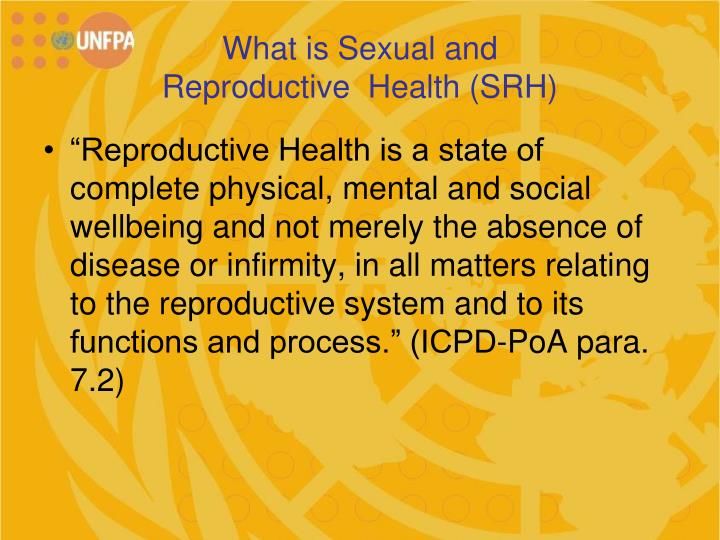 What is sexual and reproductive health srh