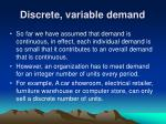 discrete variable demand