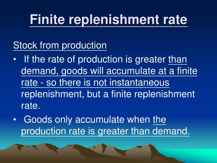 Finite replenishment rate
