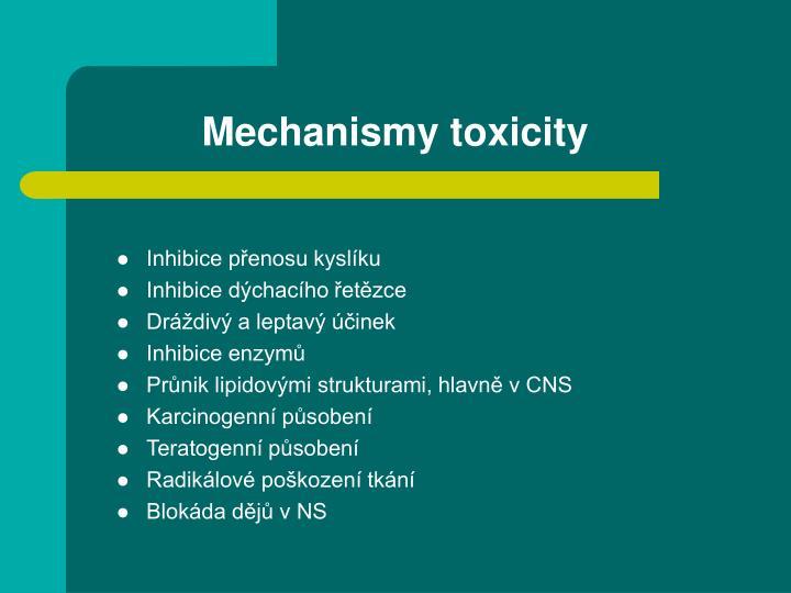 Mechanismy toxicity