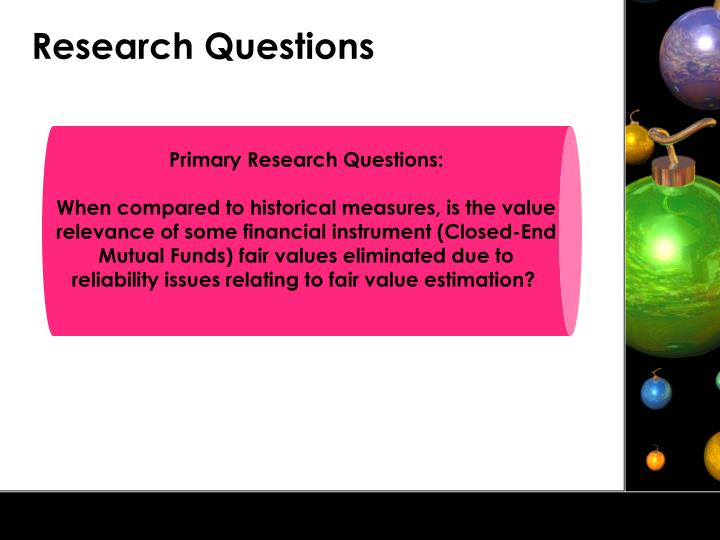 Primary Research Questions: