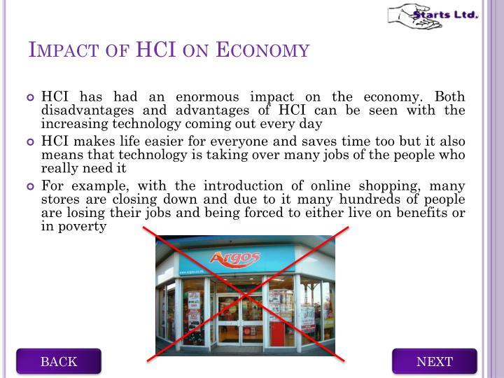 Impact of HCI on Economy