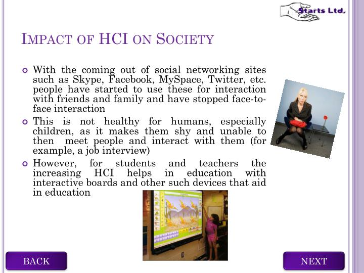 Impact of HCI on Society