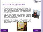 impact of hci on society