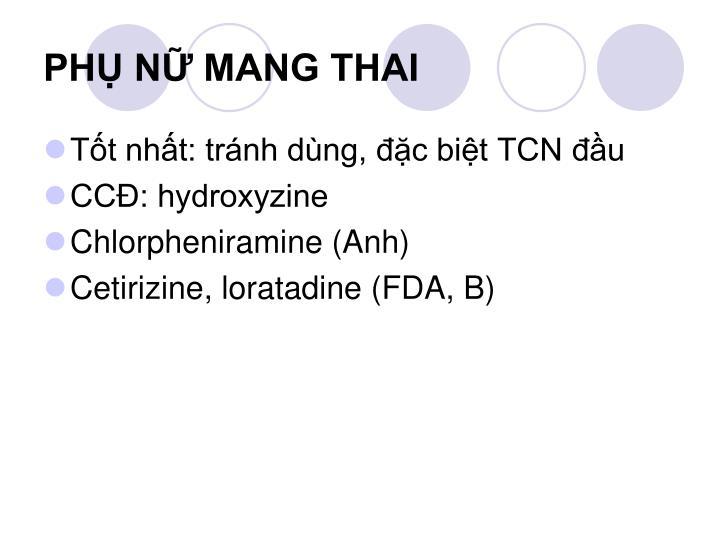 PHỤ NỮ MANG THAI
