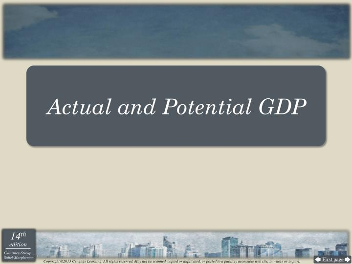 Actual and Potential GDP