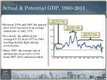 actual potential gdp 1960 20111