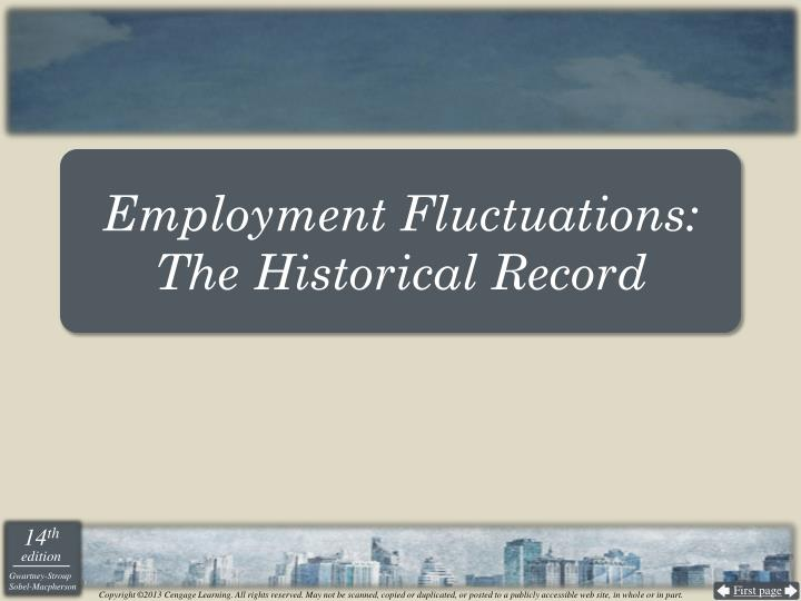 Employment Fluctuations: