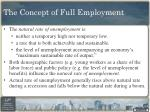 the concept of full employment1