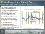 unemployment and output are linked over the business cycle