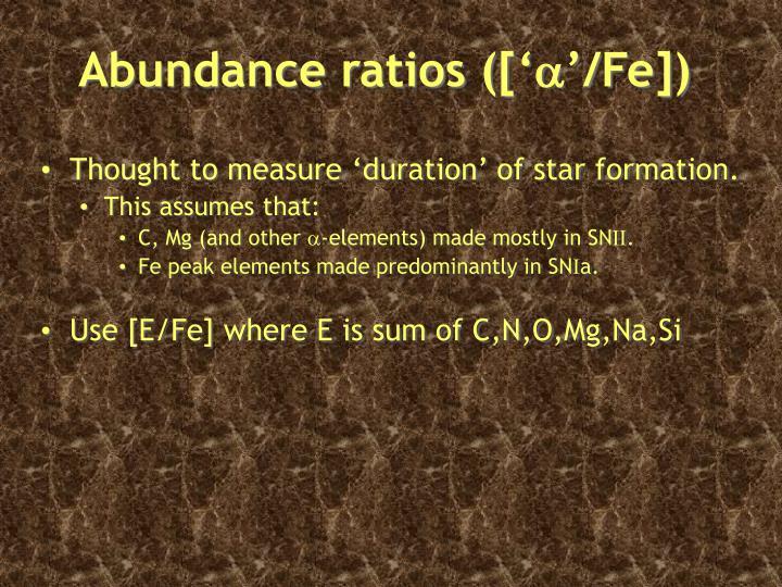 Abundance ratios (['