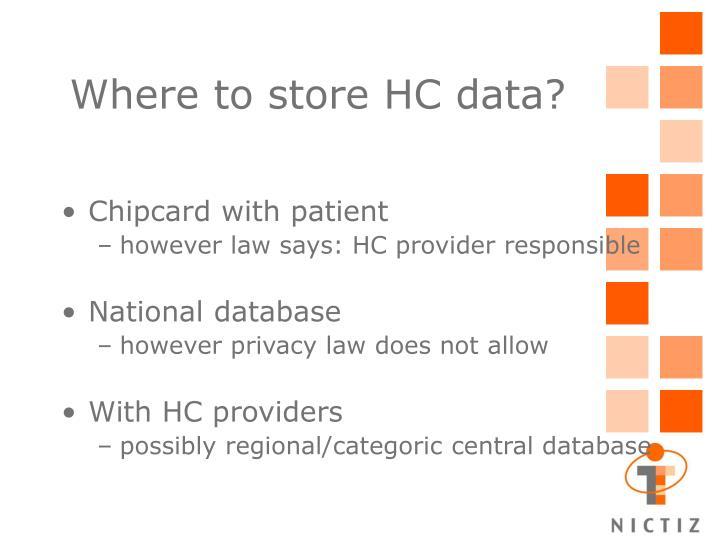 Where to store HC data?