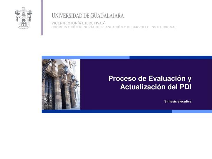 Proceso de Evaluación y