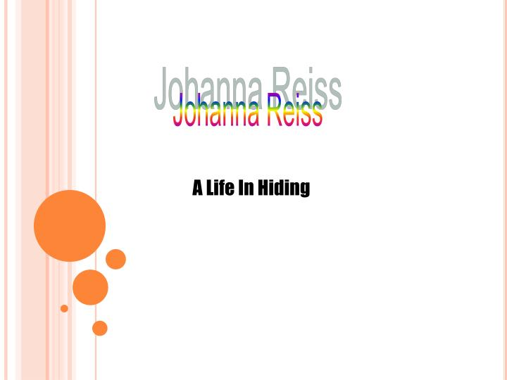 Johanna Reiss