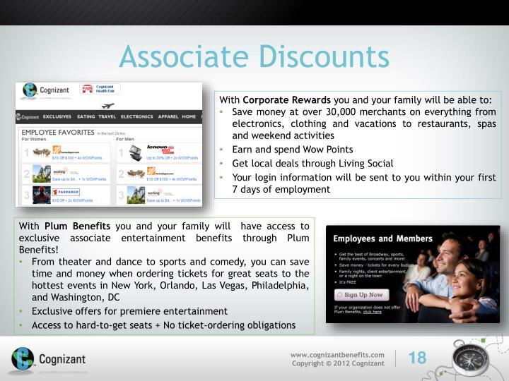 Associate Discounts