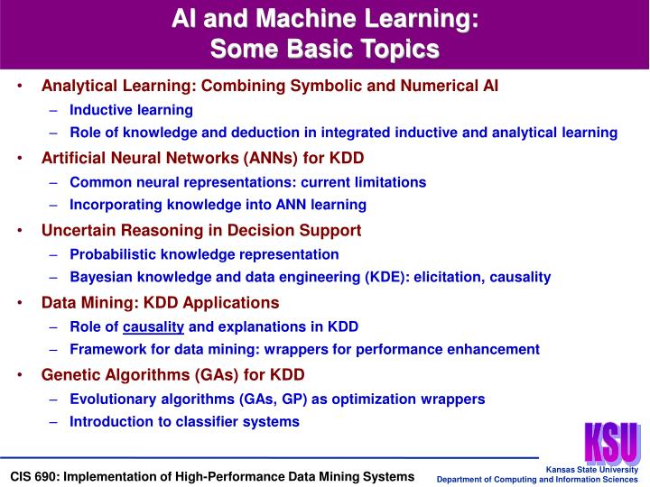 AI and Machine Learning: