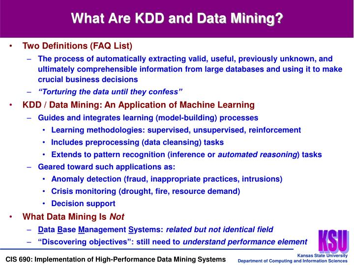 What Are KDD and Data Mining?