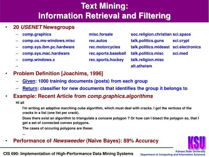 Text Mining:
