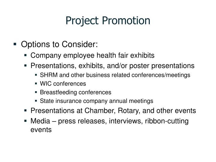 Project Promotion