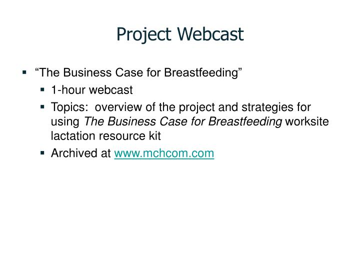 Project Webcast
