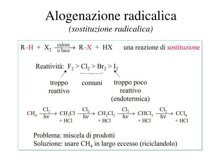 Alogenazione radicalica