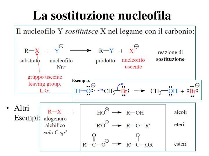 La sostituzione nucleofila