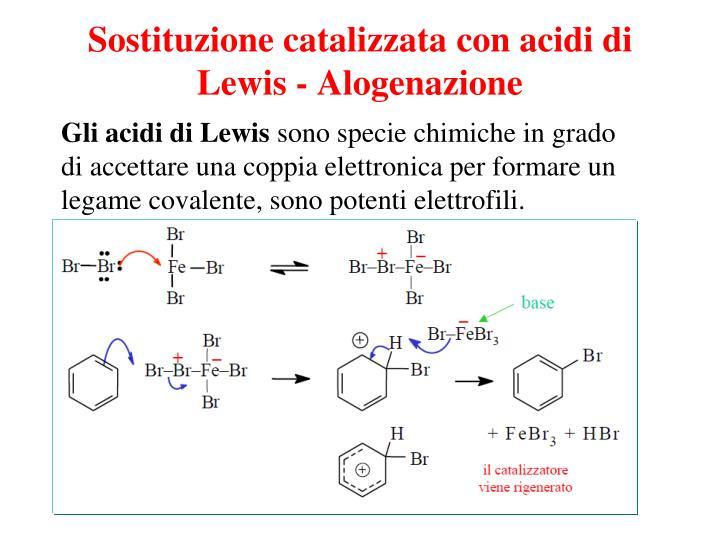 Sostituzione catalizzata con acidi di Lewis - Alogenazione