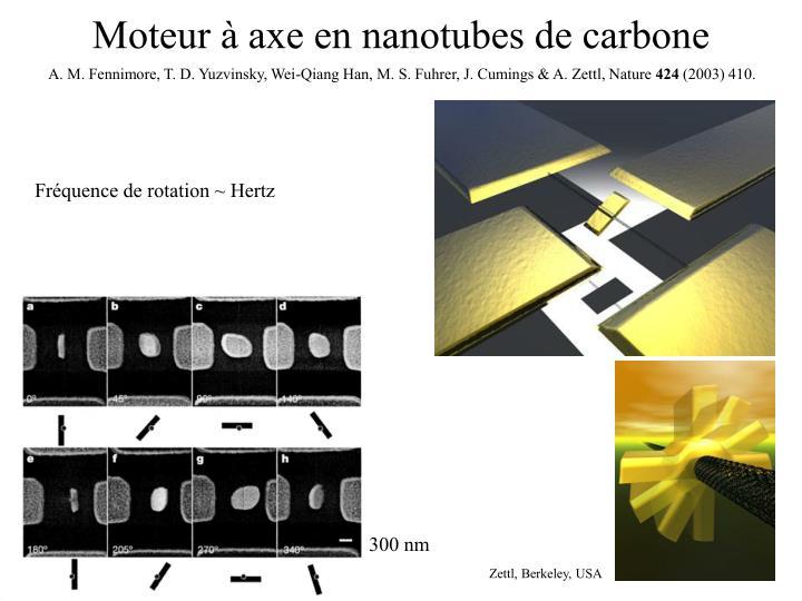 Moteur à axe en nanotubes de carbone