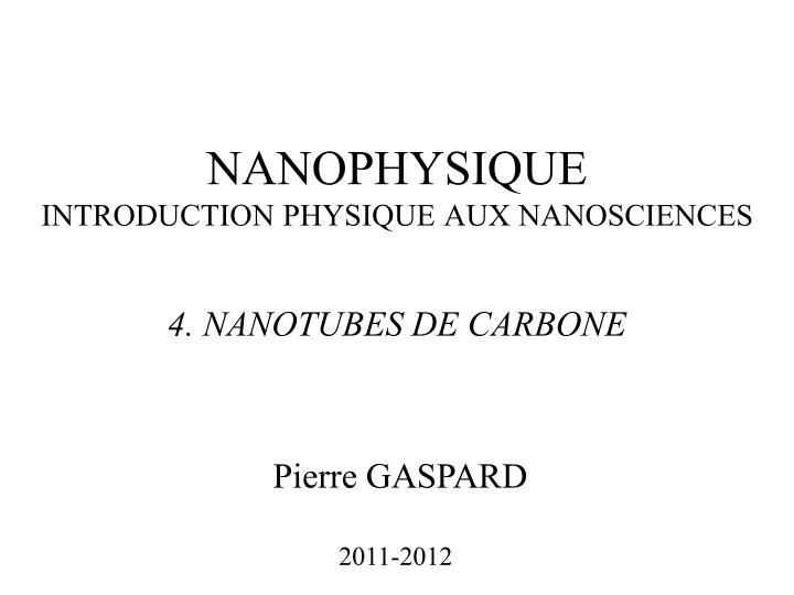 NANOPHYSIQUE