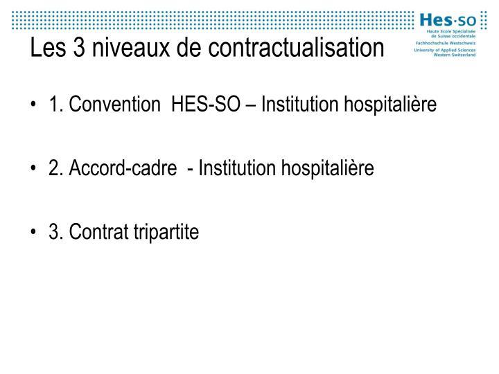 Les 3 niveaux de contractualisation