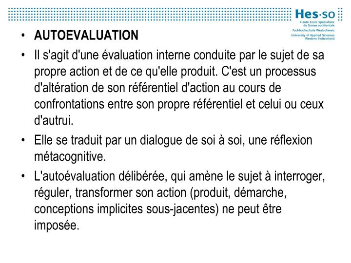 AUTOEVALUATION