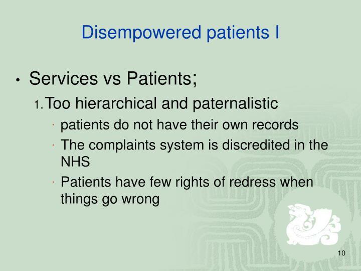Services vs Patients