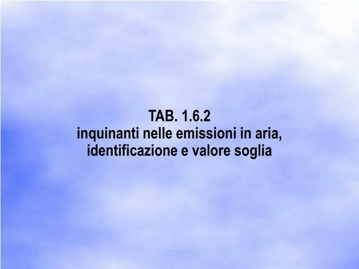 TAB. 1.6.2