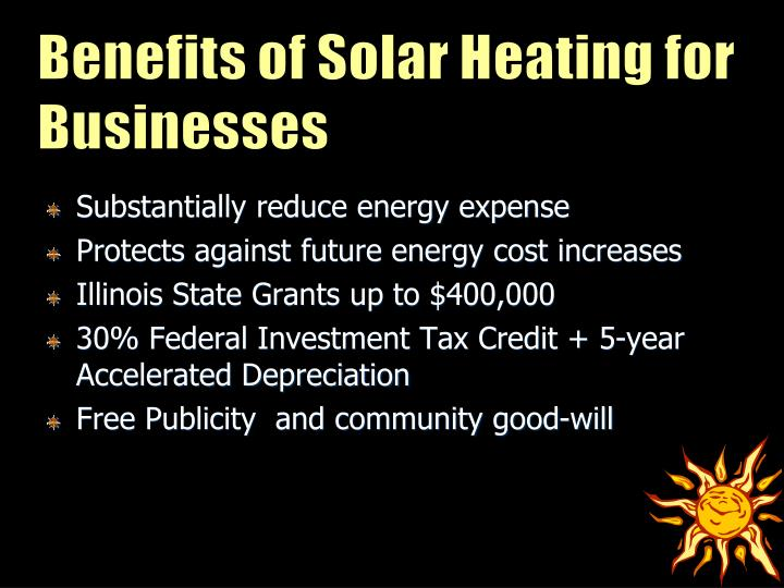Benefits of Solar Heating for