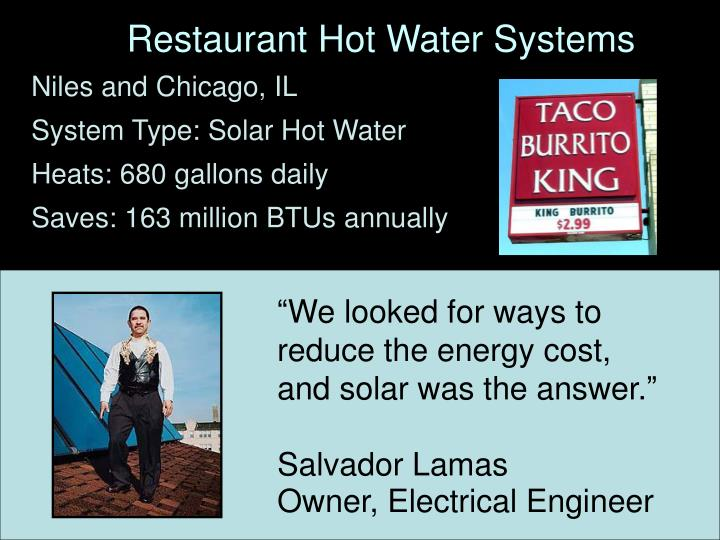 Restaurant Hot Water Systems