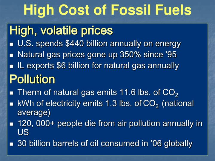 High Cost of Fossil Fuels