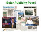 solar publicity pays